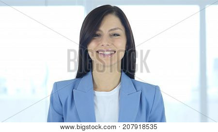 Young Businesswoman Accepting Offer Agree Yes in Office