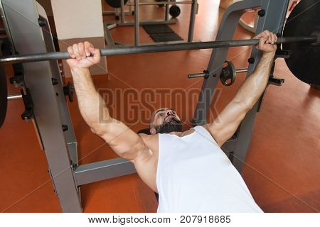 Man Working Out Chest