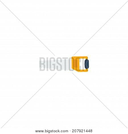 Flat Icon Handsaw Element. Vector Illustration Of Flat Icon Hacksaw Isolated On Clean Background