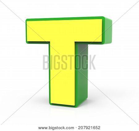 3D Toy Letter  T