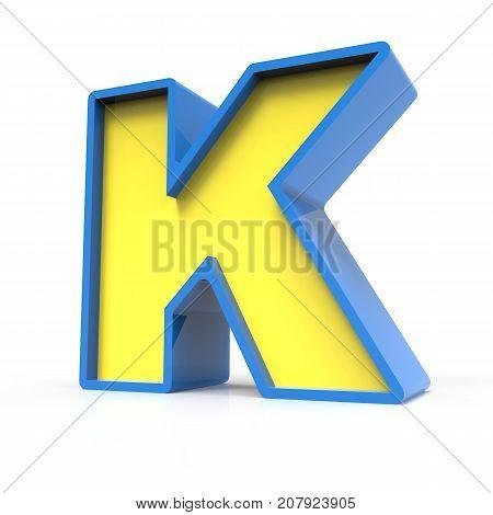 3D Toylike Letter K