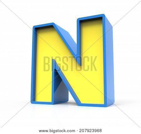 3D Toylike Letter N