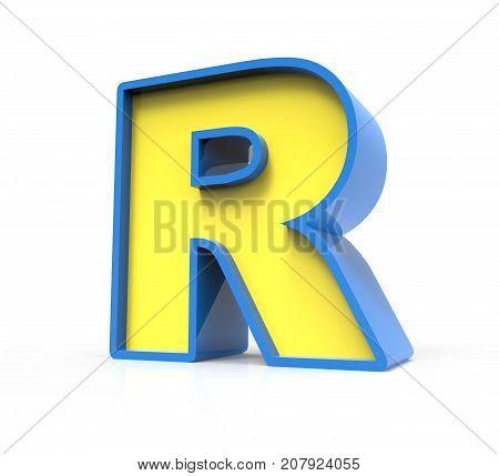 3D Toylike Letter R