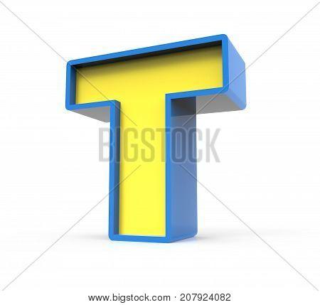 3D Toylike Letter T