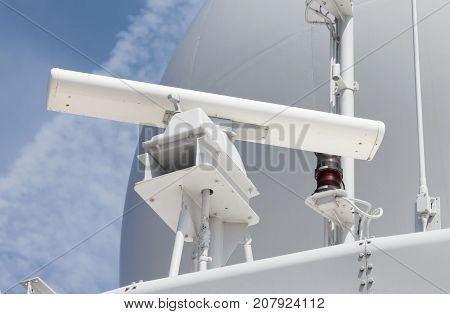Radar Antenna On A Military Ship