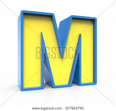 3D Toylike Letter M