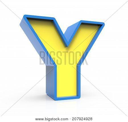 3D Toylike Letter Y