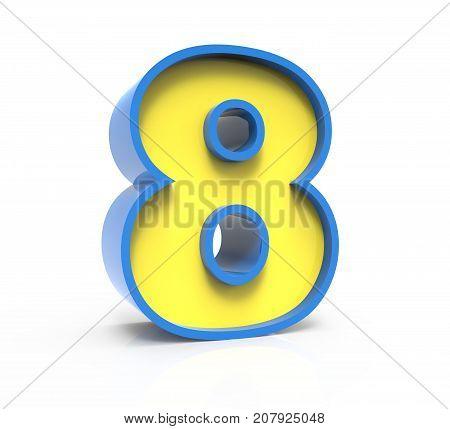 3D Toylike Number 8