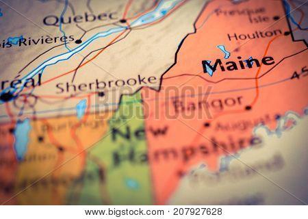 Vinnitsa Ukraine - August 25 2017: US Map