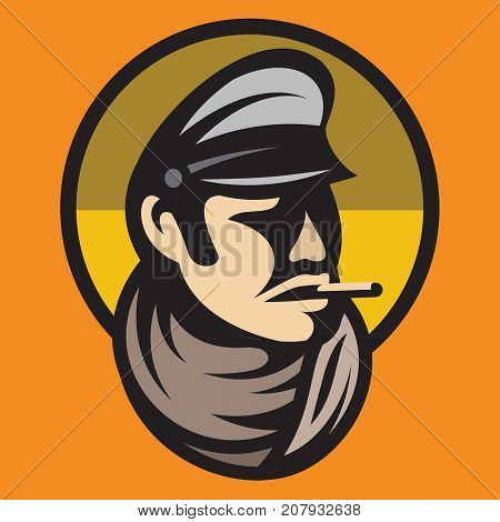 color pattern of one man as bandit swindler adventurer gangster gentleman.