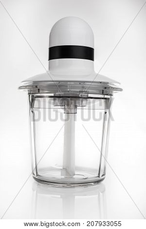 Electric food processor isolated on white background