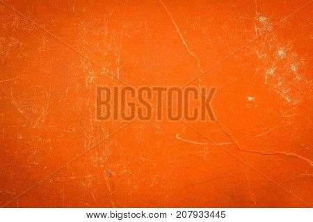 A vintage cloth book cover with orange  screen pattern and grunge background textures