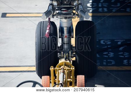 Wheels Of Delta Airlines Passenger Airplane