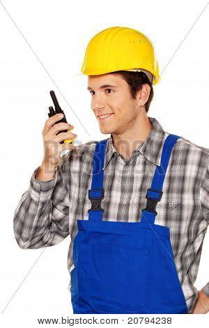 Young craftsmen - plumbing - construction workers