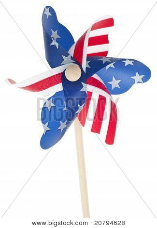 Patriotic Red White And Blie Pinwheel