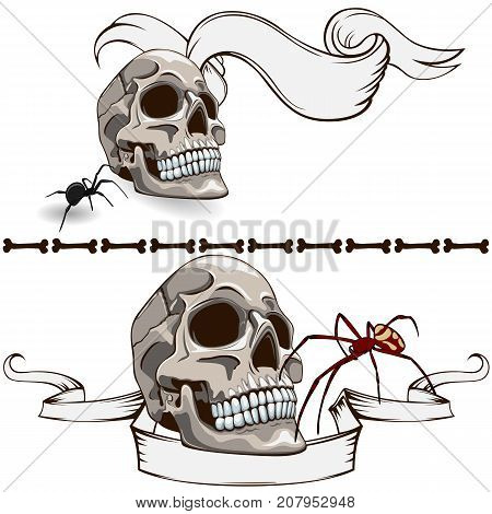 The Old Skull Banners