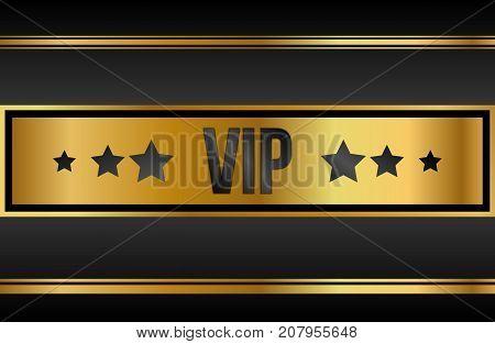 VIP luxury Black and golden design template. Vector Illustration