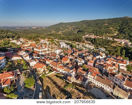 Old village of Monchique, the view from the sky.
