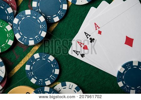 Four Ace In Poker Game