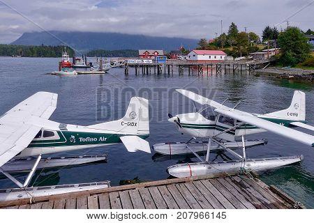 Tofino, Canada, 2017.08.14: At the harbor of Tofino in Canada.
