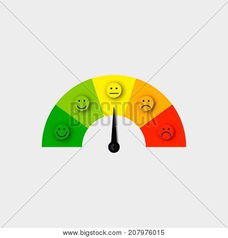 customer satisfaction meter vector  satisfaction feedback scale vector