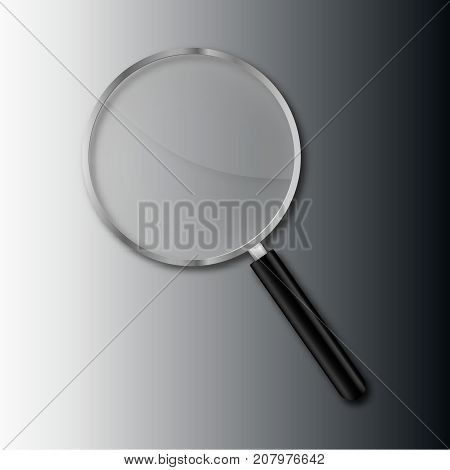 transparent magnify glass vector transparency magnifier realistic