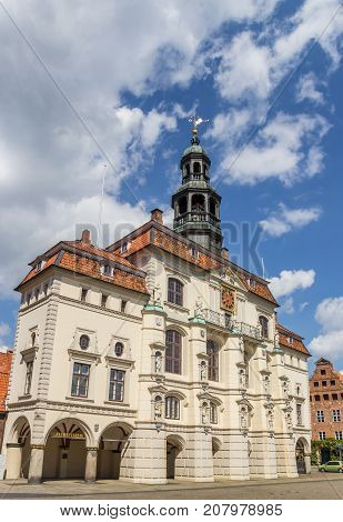 Baroque Building Of The Town Hall Of Luneburg