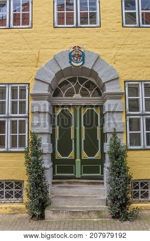 Colorful Entrance Of An Old House In Luneburg