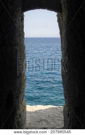 View of mysterious passage that ends in the sea