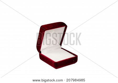 Red Jewelry Box Isolated On White Background