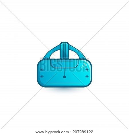 Stereoscopic Vr Illustration. Vector Virtual Digital Cyberspace Technology. Innovation Device