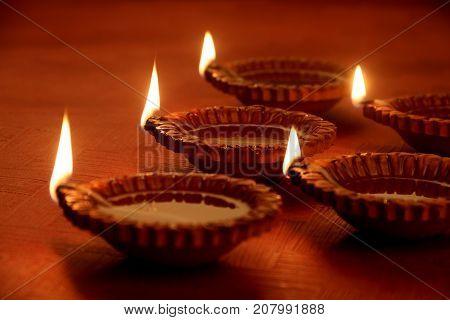 Earthen Clay Handmade Diwali Festival Oil Lamps