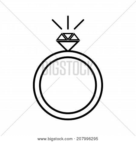 Diamond engagement ring icon . Simple illustration of diamond engagement ring vector icon for web design isolated on white background
