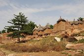 A view of Dogon tribe village in Mali, Africa poster