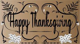 Happy Thanksgiving greeting card- vector, summer, spring, season, nature,
