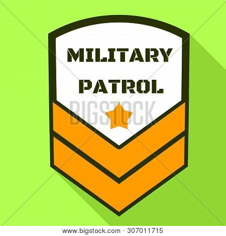 Military Patrol Logo. Flat Illustration Of Military Patrol Vector Logo For Web Design