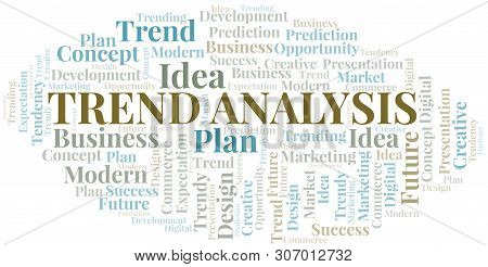 Trend Analysis Word Cloud. Wordcloud Made With Text Only.