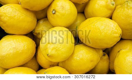Background From Yellow A Frech Lemon Fruits