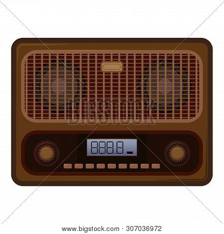 Old Vintage Radio Icon. Cartoon Of Old Vintage Radio Vector Icon For Web Design Isolated On White Ba