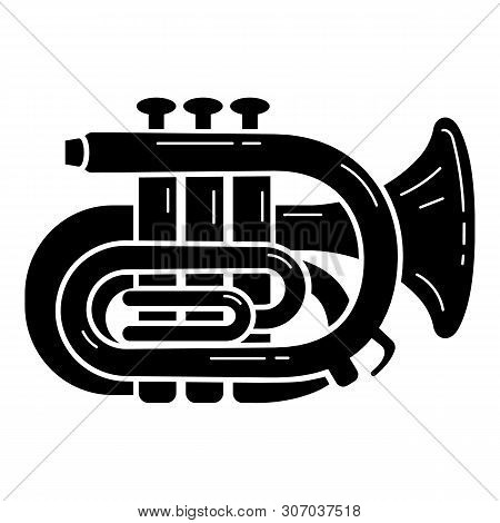 Orchestra Trumpet Icon. Simple Illustration Of Orchestra Trumpet Vector Icon For Web Design Isolated