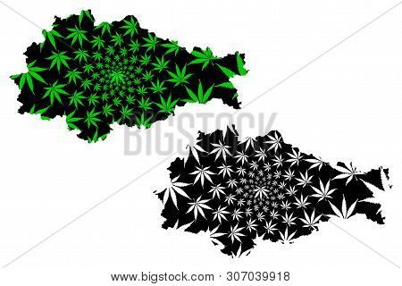 Kursk Oblast (russia, Subjects Of The Russian Federation, Oblasts Of Russia) Map Is Designed Cannabi