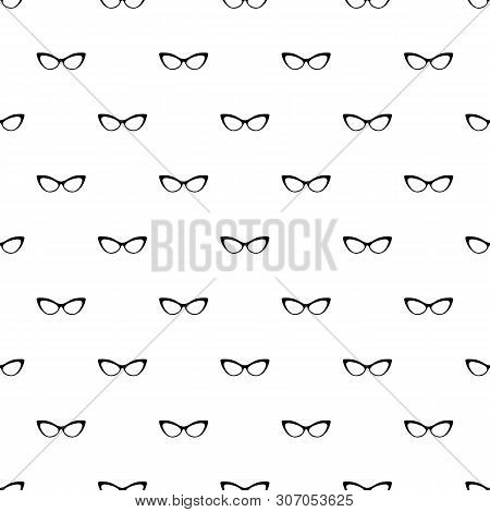 Spectacles Without Diopters Pattern Seamless Vector Repeat Geometric For Any Web Design