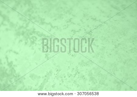 Green Mint Color. Concrete Or Beton Pattern, Patchy Background
