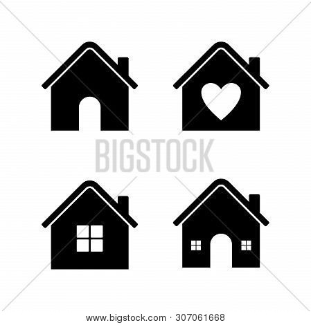 Set Of Home Icon Vector Isolated On White Background, Home Icon Vector Illustration, Collection Home