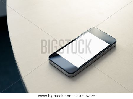 Mobile Smartphone auf dem Tisch