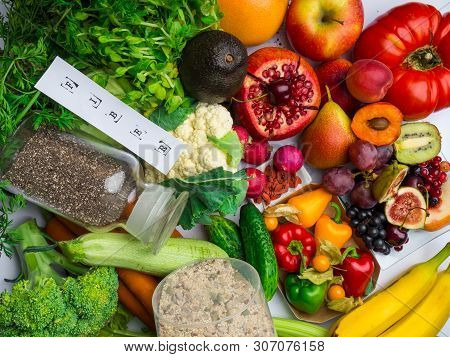Foods Rich In Fiber And Antioxidants. Healthy Eating Concept
