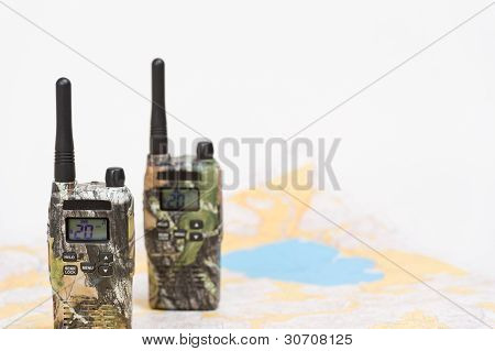 PMR Radios And Map