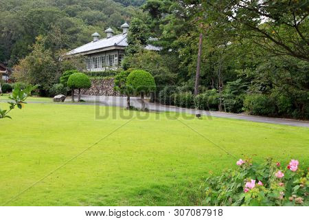 Nagoya, Japan - September 14: Meiji-mura open air architectural museum preserves historic buildings between 1867-1989 On September 14, 2014 Nagoya, Japan.