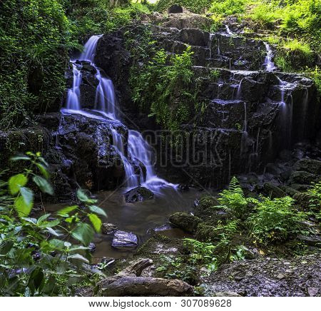 La Petite Cascade - The Little Waterfall Of The Cance And Cançon Rivers  - Le Neufbourg, Normandy, F