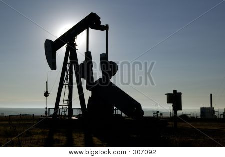 oil well in the texas panhandle. poster